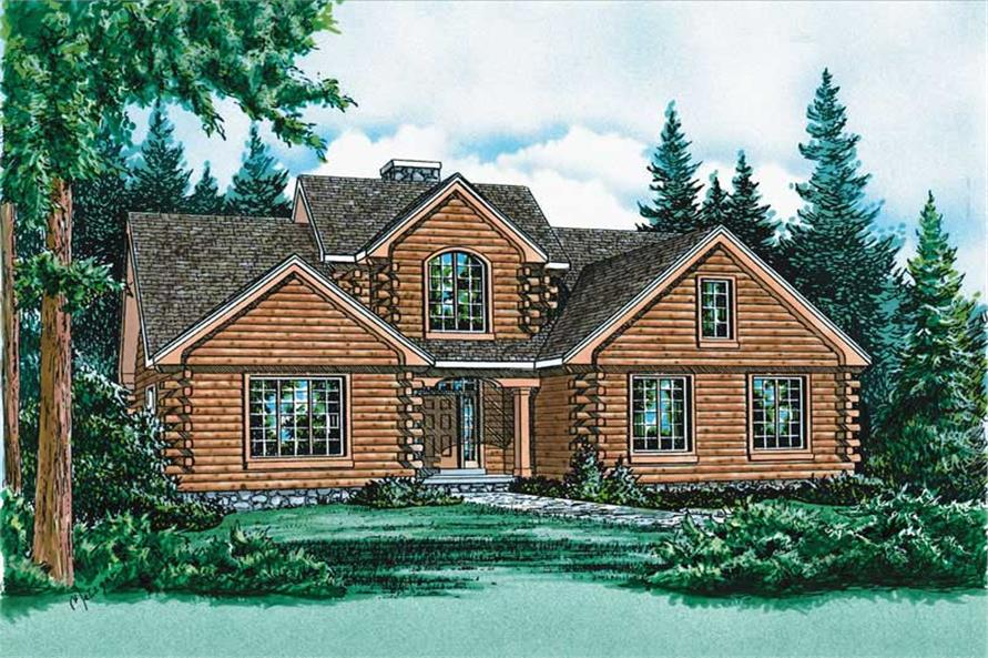Home Plan Rendering of this 3-Bedroom,2516 Sq Ft Plan -120-1829