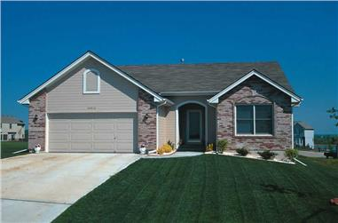 3-Bedroom, 1392 Sq Ft Ranch House Plan - 120-1831 - Front Exterior