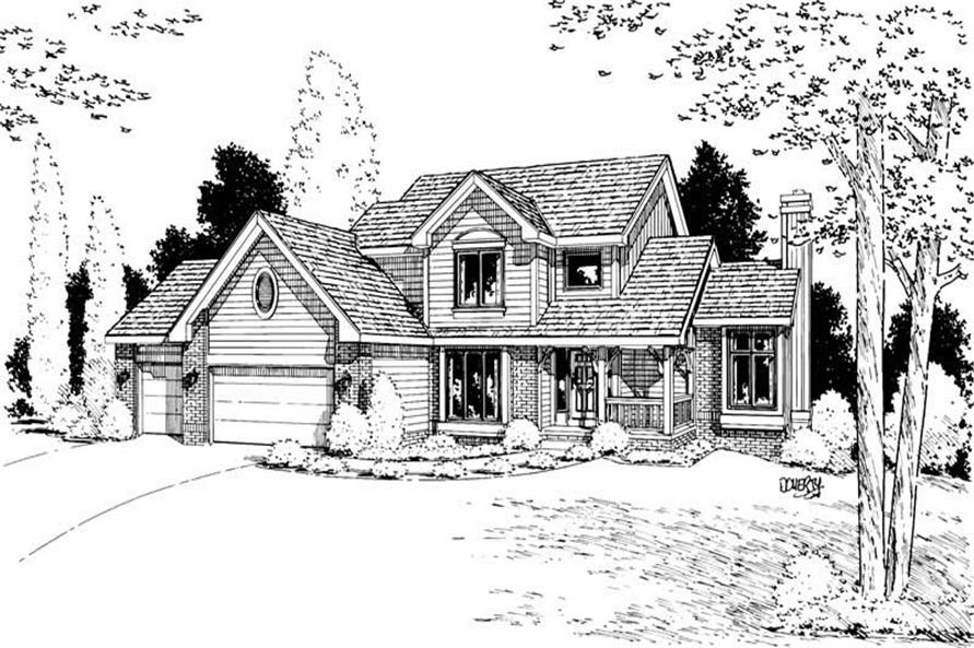 Front Elevation of this 4-Bedroom,2266 Sq Ft Plan -2266