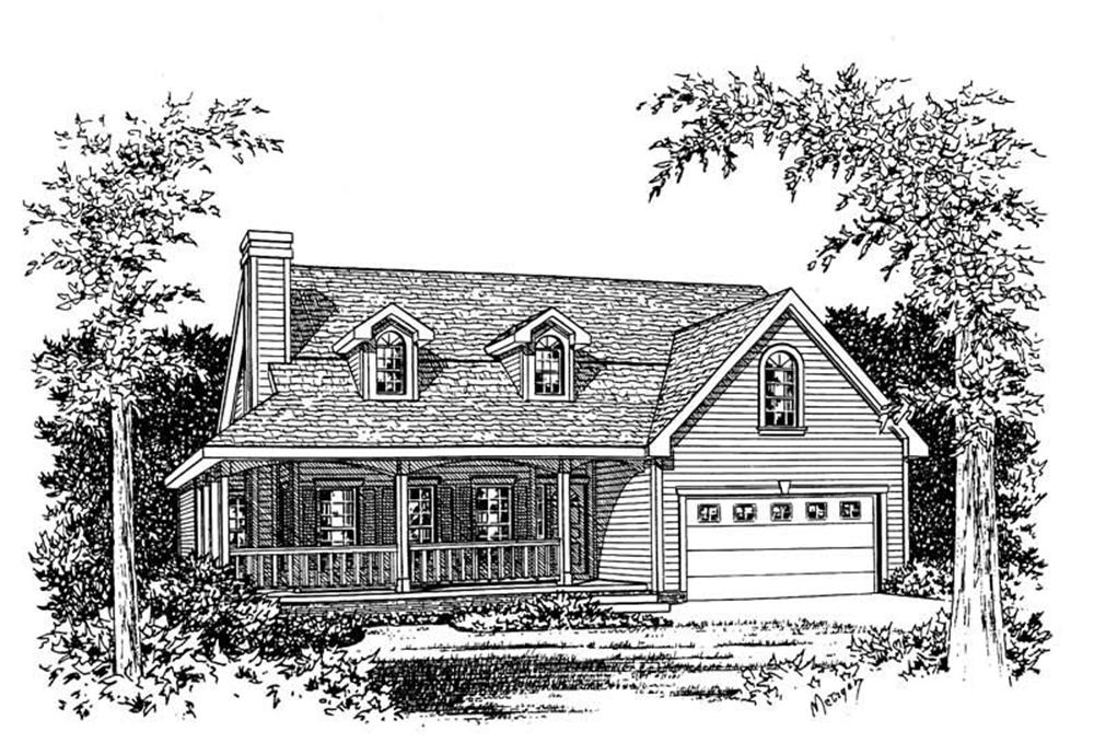 Main image for house plan # 5606