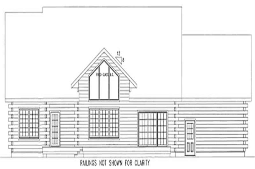 Home Plan Rear Elevation of this 3-Bedroom,1928 Sq Ft Plan -120-1841