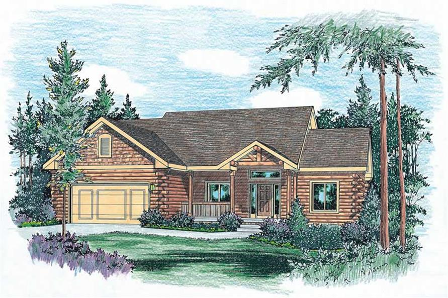 Home Plan Rendering of this 3-Bedroom,1928 Sq Ft Plan -120-1841