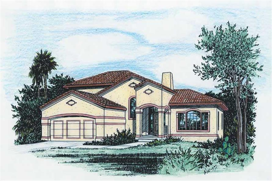 Main image for house plan # 5555