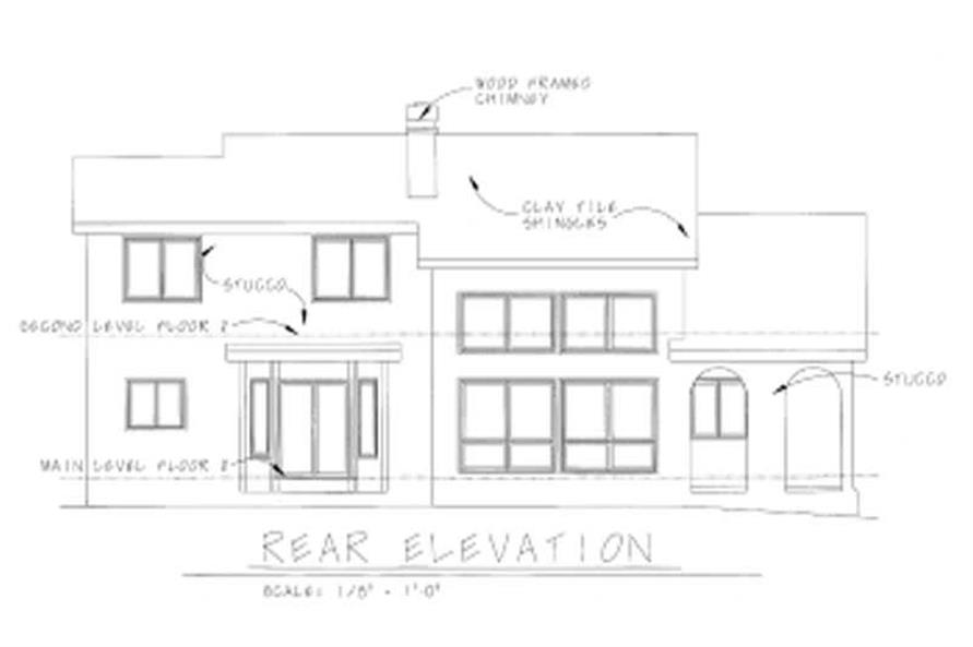 Home Plan Rear Elevation of this 4-Bedroom,2107 Sq Ft Plan -120-1846