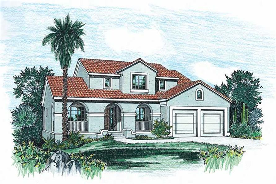 4-Bedroom, 2107 Sq Ft Contemporary Home Plan - 120-1846 - Main Exterior