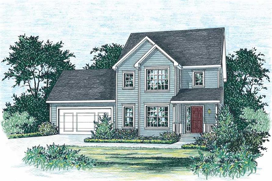3-Bedroom, 1570 Sq Ft Small House Plans - 120-1848 - Main Exterior