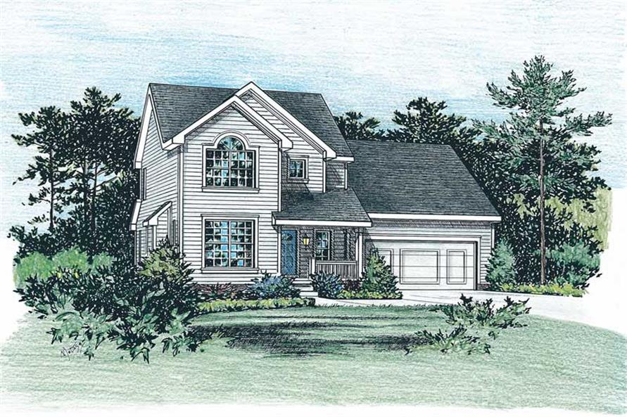 3-Bedroom, 1395 Sq Ft Country House Plan - 120-1850 - Front Exterior