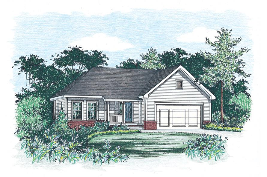 Home Plan Rendering of this 3-Bedroom,1333 Sq Ft Plan -120-1852