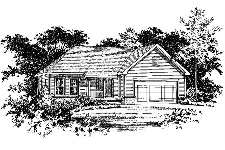 120-1852: Home Plan Rendering