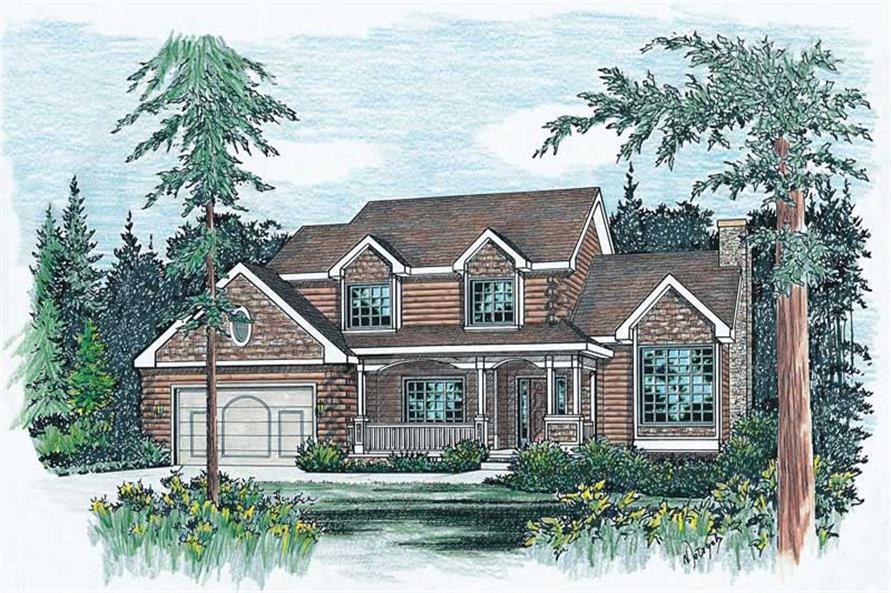 Home Plan Rendering of this 4-Bedroom,2215 Sq Ft Plan -120-1853
