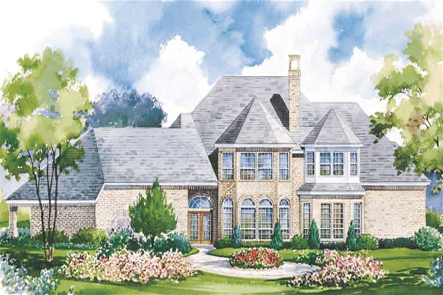 Home Plan Rear Elevation of this 4-Bedroom,3750 Sq Ft Plan -120-1855