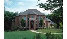 European home plans DB-9143 color photo.