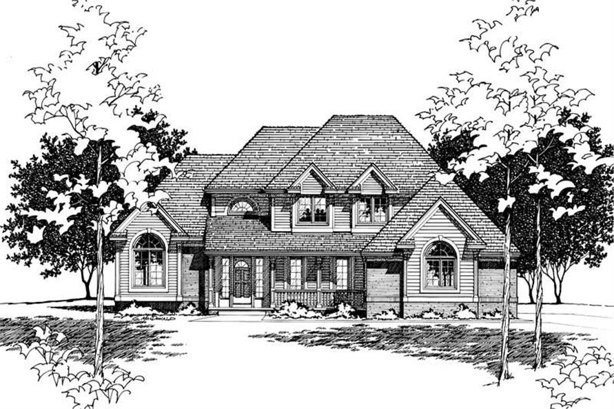 Home Plan Rendering of this 4-Bedroom,2562 Sq Ft Plan -120-1858