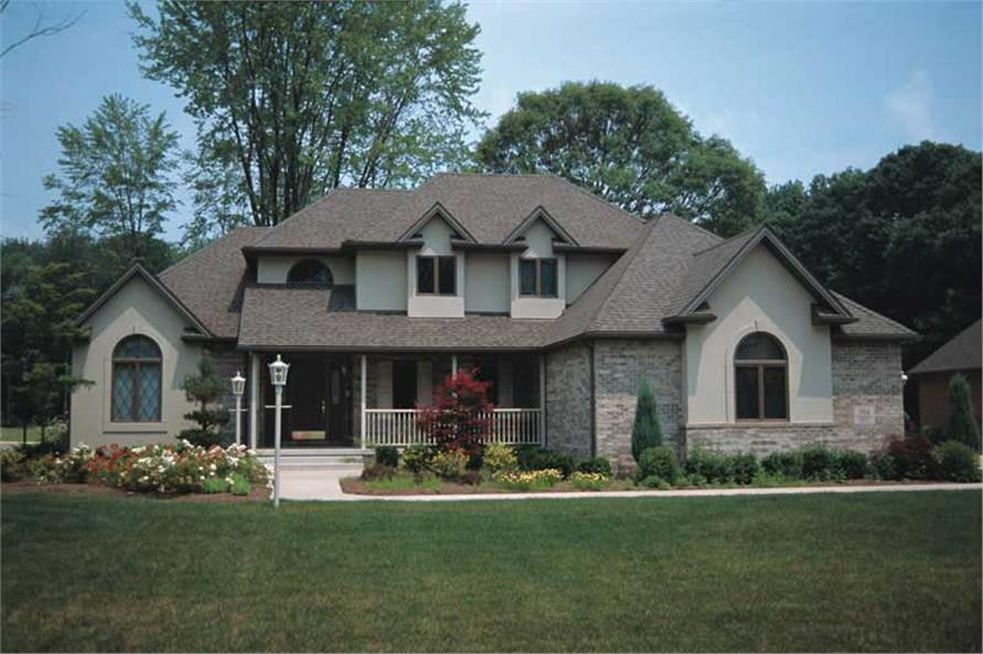 4-Bedroom, 2562 Sq Ft Traditional Home Plan - 120-1858 - Main Exterior