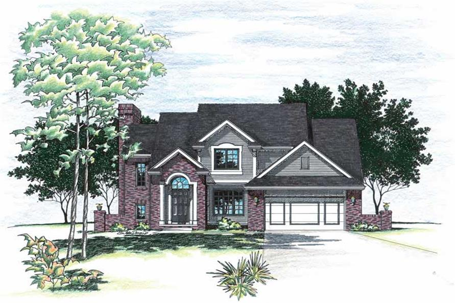 Main image for house plan # 6057