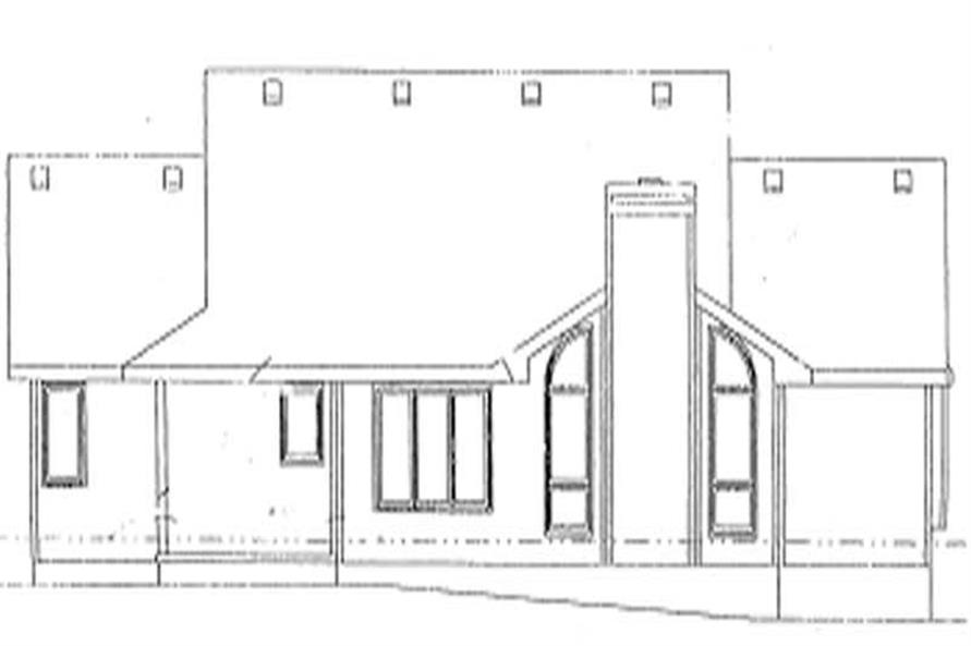 Home Plan Rear Elevation of this 3-Bedroom,1815 Sq Ft Plan -120-1876