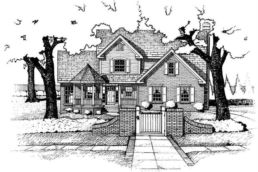 Home Plan Rendering of this 3-Bedroom,1938 Sq Ft Plan -120-1879