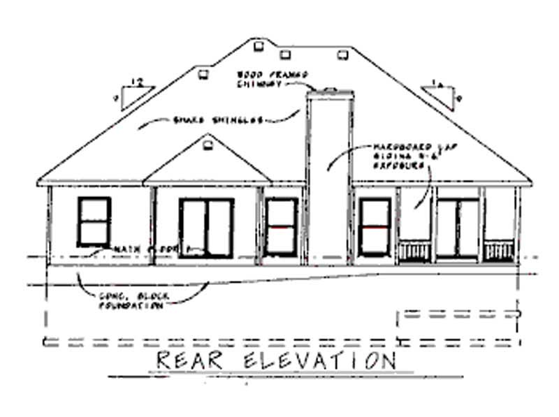 ELEV_LR5465RE One Bedroom House Plans With Porch on 3 bedroom house plans with, cottage house plans with, luxury house plans with,
