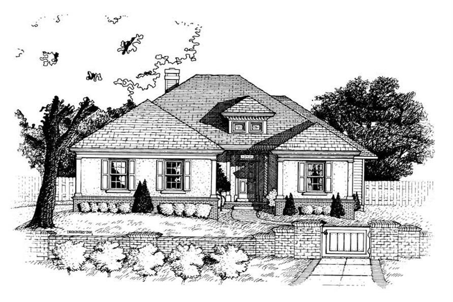 2-Bedroom, 1558 Sq Ft Ranch Home Plan - 120-1882 - Main Exterior