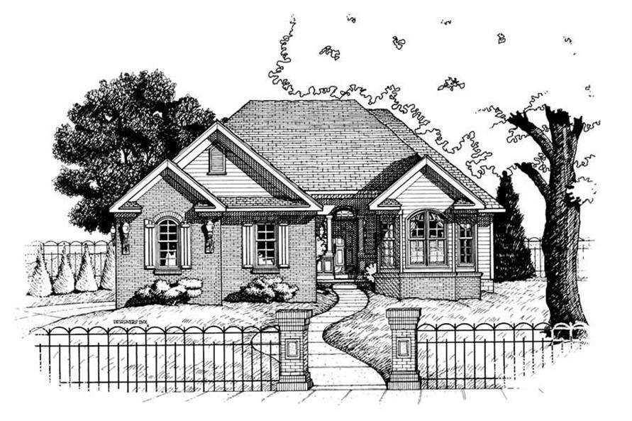 3-Bedroom, 1772 Sq Ft Small House Plans - 120-1883 - Main Exterior