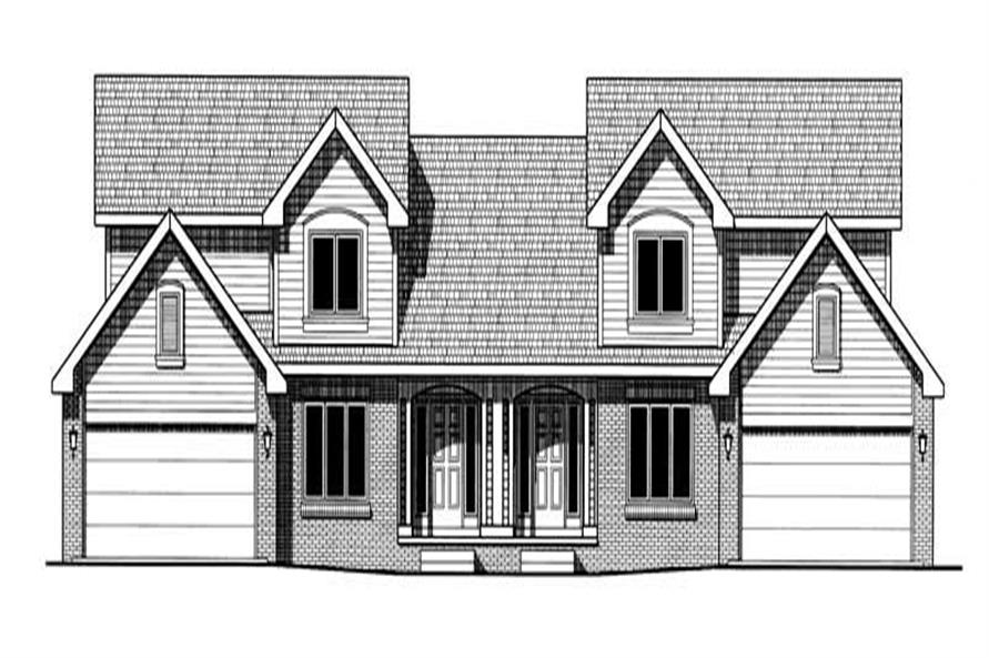 3-Bedroom, 1675 Sq Ft Multi-Unit Home Plan - 120-1887 - Main Exterior