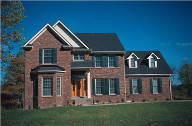 4-Bedroom, 2427 Sq Ft Traditional Home Plan - 120-1888 - Main Exterior