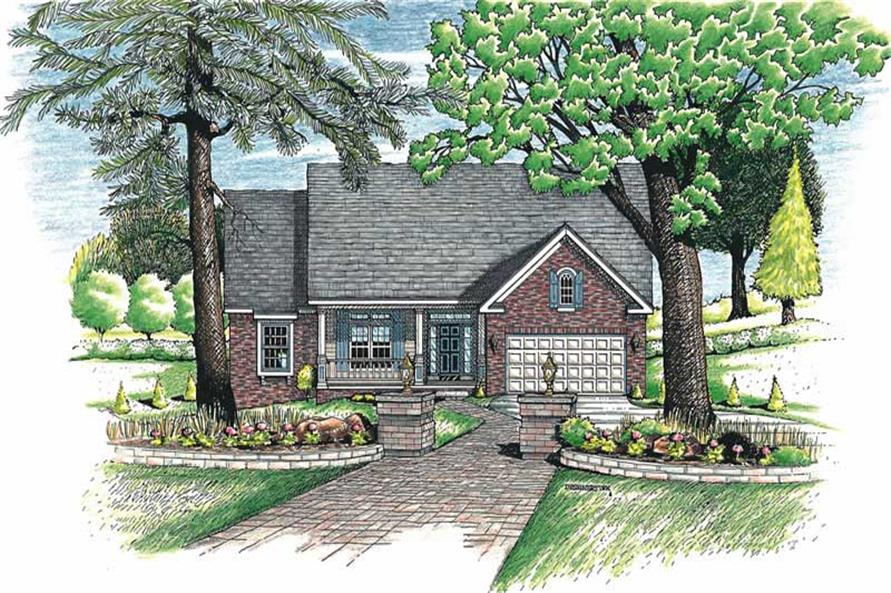 3-Bedroom, 1758 Sq Ft Country Home Plan - 120-1890 - Main Exterior