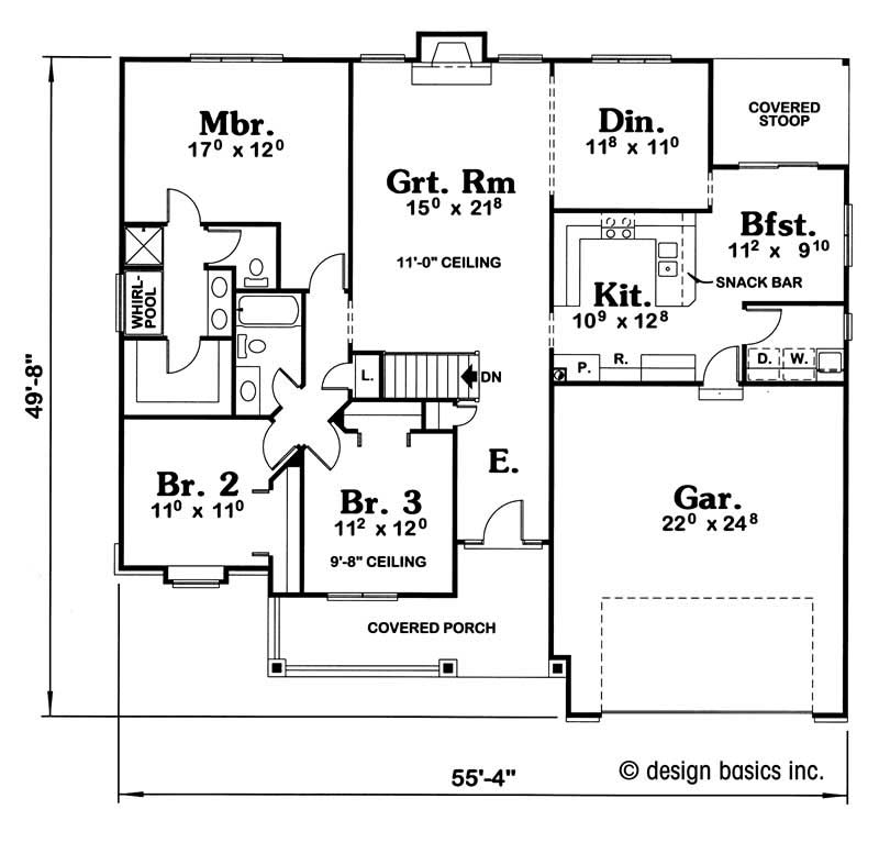 House plan 120 1890 3 bedroom 1758 sq ft country for 1890 house plans