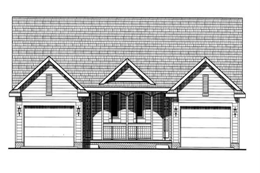 2-Bedroom, 1455 Sq Ft Country Home Plan - 120-1891 - Main Exterior