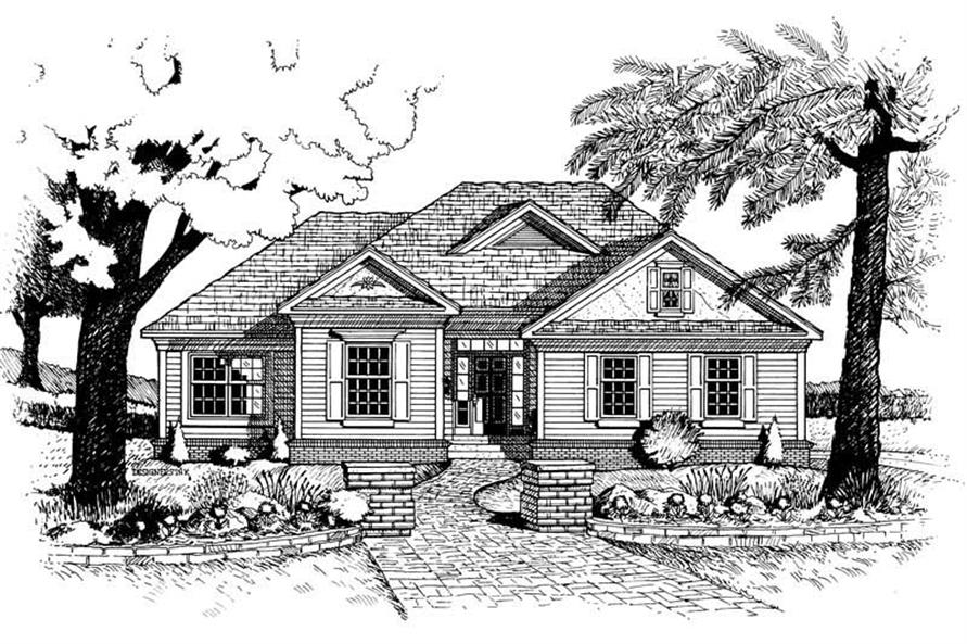 Home Plan Rendering of this 3-Bedroom,1660 Sq Ft Plan -120-1894