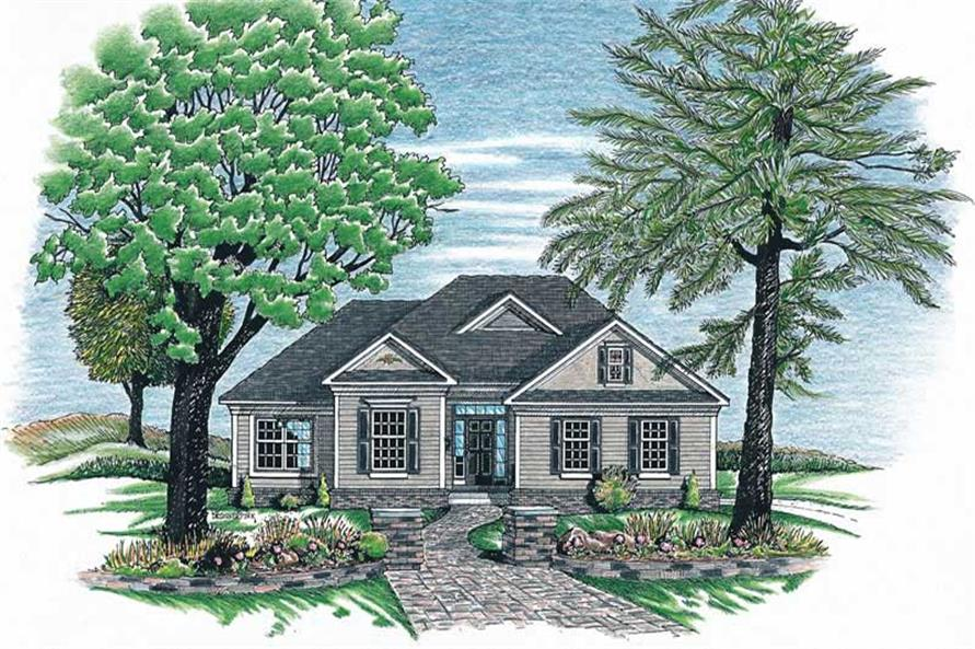 3-Bedroom, 1660 Sq Ft Ranch Home Plan - 120-1894 - Main Exterior