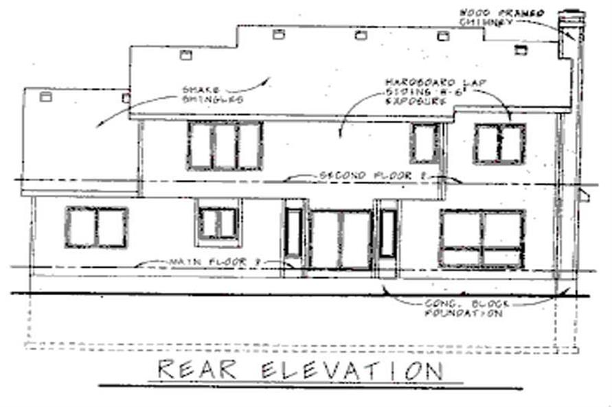 Home Plan Rear Elevation of this 4-Bedroom,2752 Sq Ft Plan -120-1895