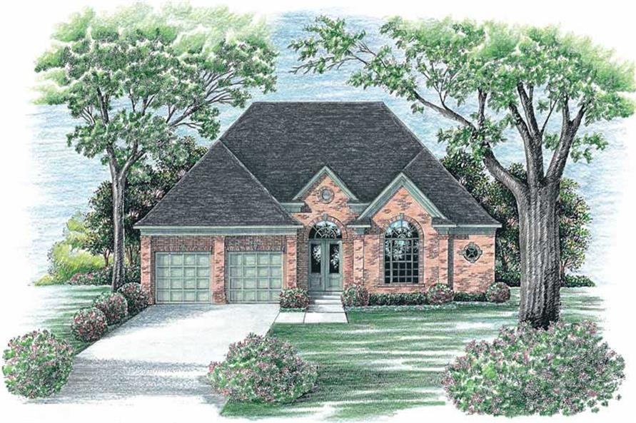 Home Plan Rendering of this 3-Bedroom,2409 Sq Ft Plan -120-1896