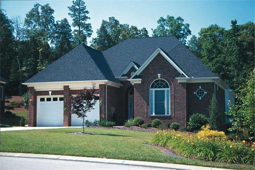 3-Bedroom, 2409 Sq Ft European Home Plan - 120-1896 - Main Exterior