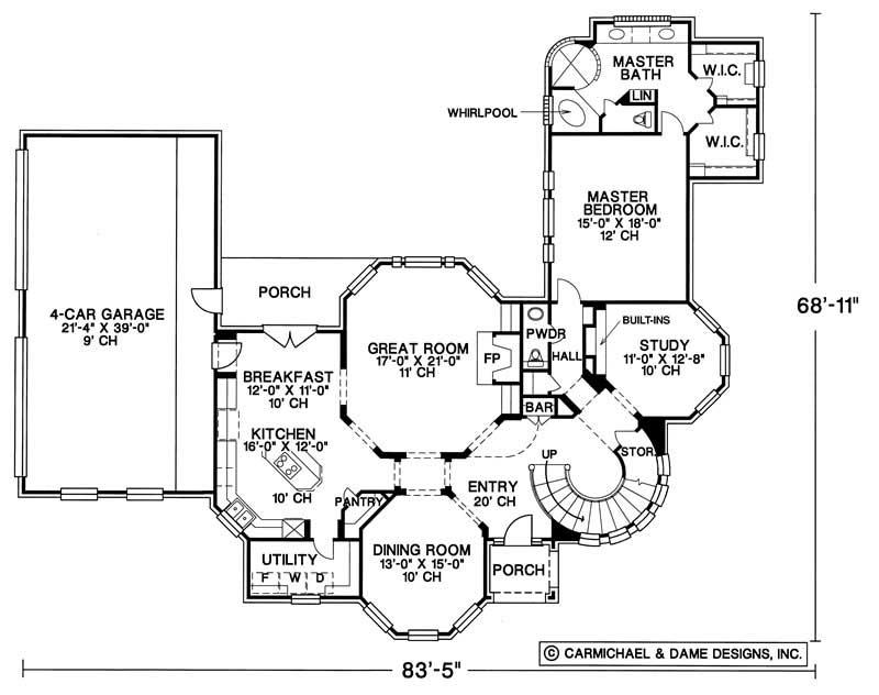 House plan 120 1897 4 bedroom 3538 sq ft european for Dfd house plans 1897