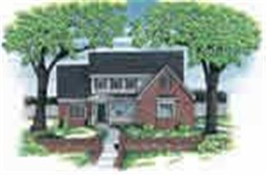 4-Bedroom, 2118 Sq Ft Country Home Plan - 120-1898 - Main Exterior