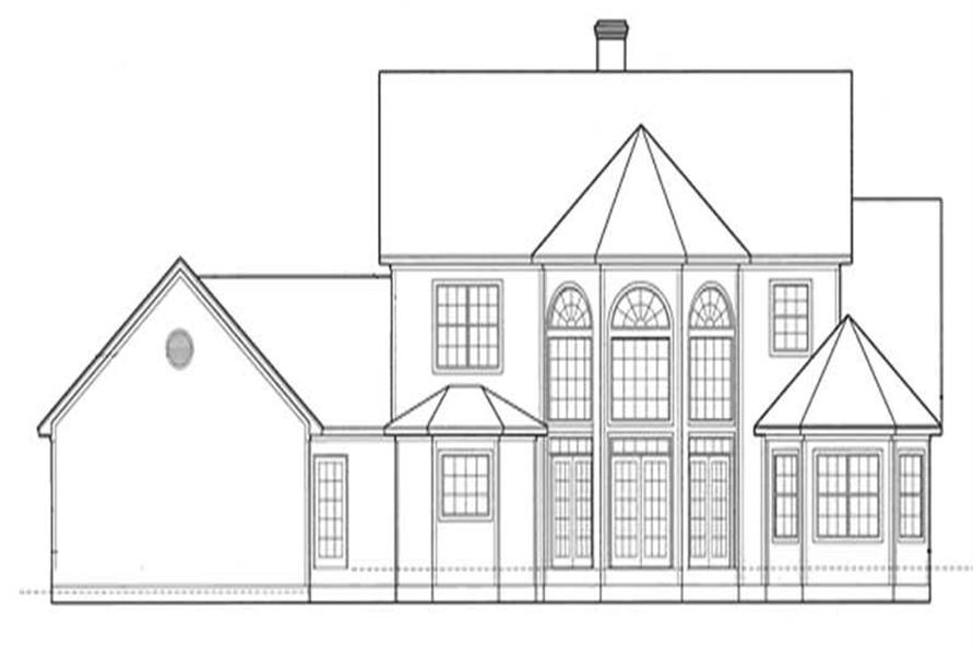 Home Plan Rear Elevation of this 3-Bedroom,2361 Sq Ft Plan -120-1899