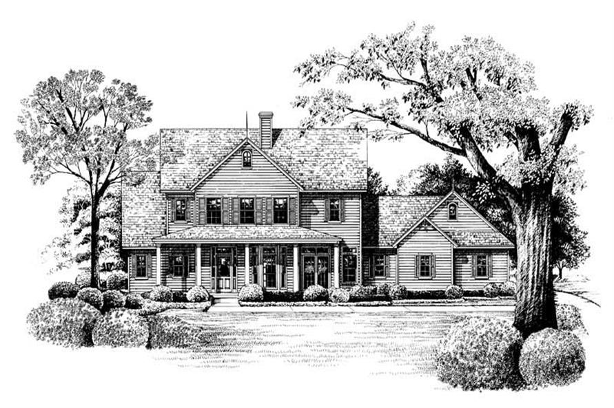 Home Plan Rendering of this 3-Bedroom,2361 Sq Ft Plan -120-1899