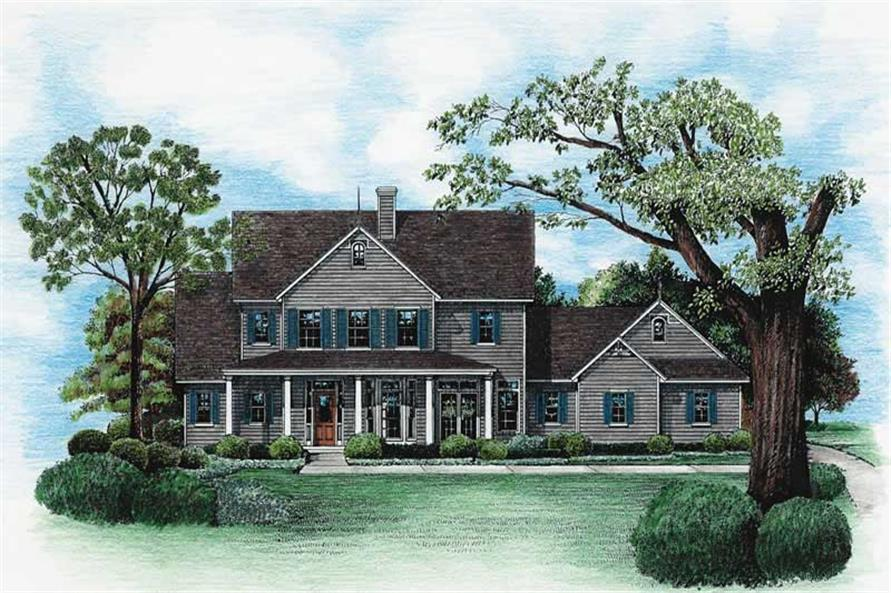 3-Bedroom, 2361 Sq Ft Country Home Plan - 120-1899 - Main Exterior