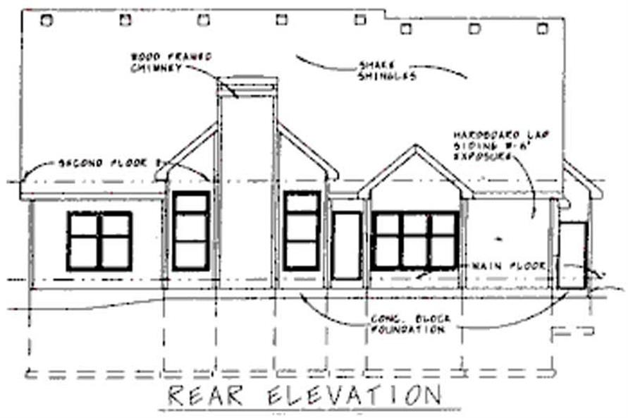 Home Plan Rear Elevation of this 4-Bedroom,2781 Sq Ft Plan -120-1900