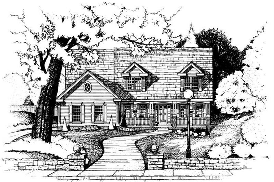 4-Bedroom, 2781 Sq Ft Country Home Plan - 120-1900 - Main Exterior