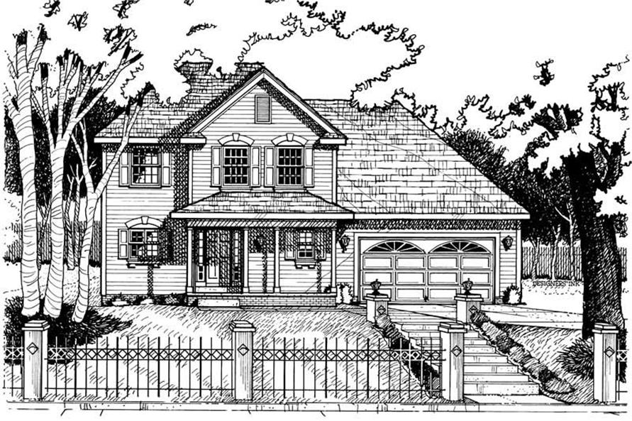 Home Plan Rendering of this 3-Bedroom,1712 Sq Ft Plan -120-1901