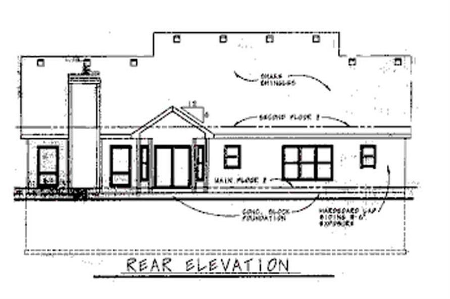 Home Plan Rear Elevation of this 2-Bedroom,2039 Sq Ft Plan -120-1902