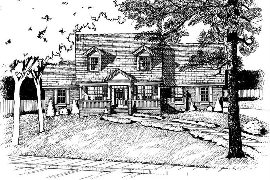 2-Bedroom, 2039 Sq Ft Country Home Plan - 120-1902 - Main Exterior