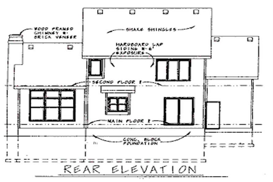 Home Plan Rear Elevation of this 3-Bedroom,2069 Sq Ft Plan -120-1903
