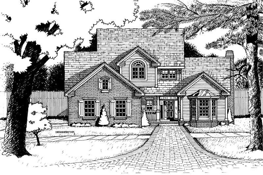 Home Plan Rendering of this 3-Bedroom,2069 Sq Ft Plan -120-1903