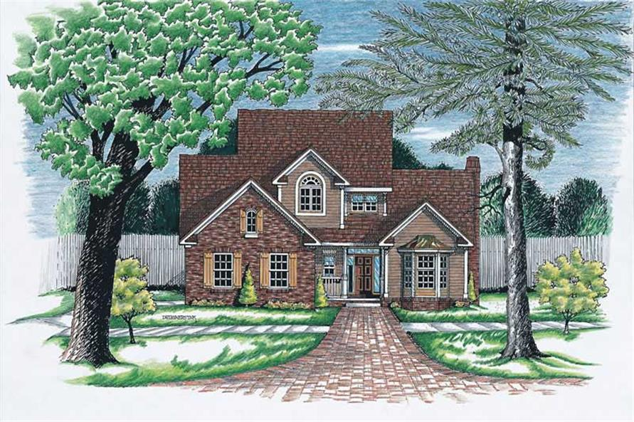 3-Bedroom, 2069 Sq Ft Traditional Home Plan - 120-1903 - Main Exterior