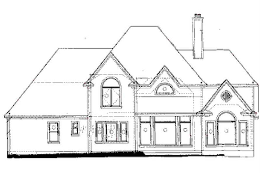 Home Plan Rear Elevation of this 4-Bedroom,3080 Sq Ft Plan -120-1905