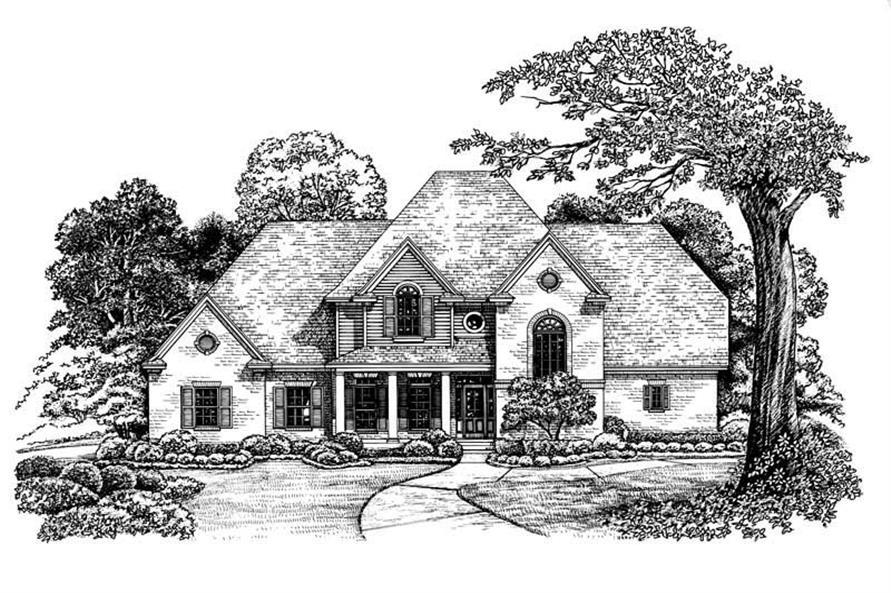 Home Plan Rendering of this 4-Bedroom,3080 Sq Ft Plan -120-1905