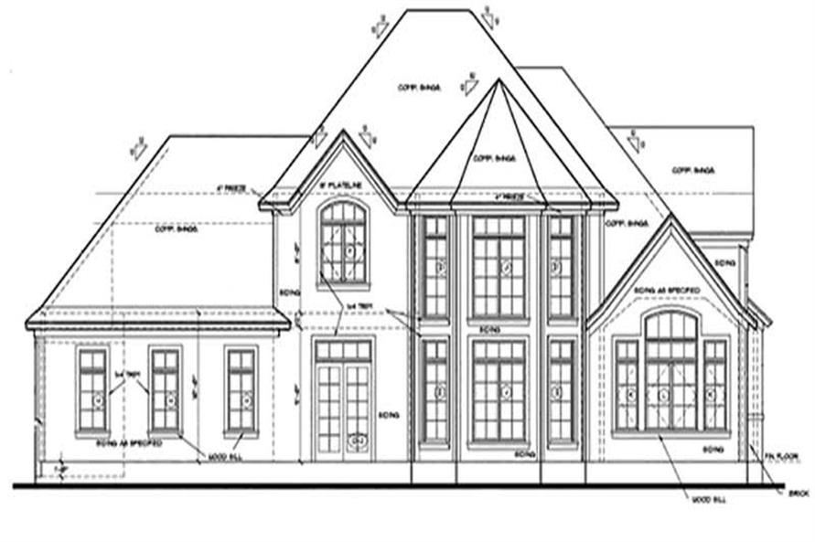 Home Plan Rear Elevation of this 3-Bedroom,2237 Sq Ft Plan -120-1906